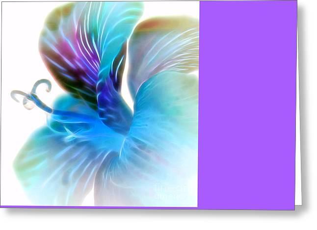 Exotic Glow Greeting Card by Krissy Katsimbras