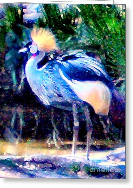 Elinor Mavor Greeting Cards - Exotic Bird Greeting Card by Elinor Mavor