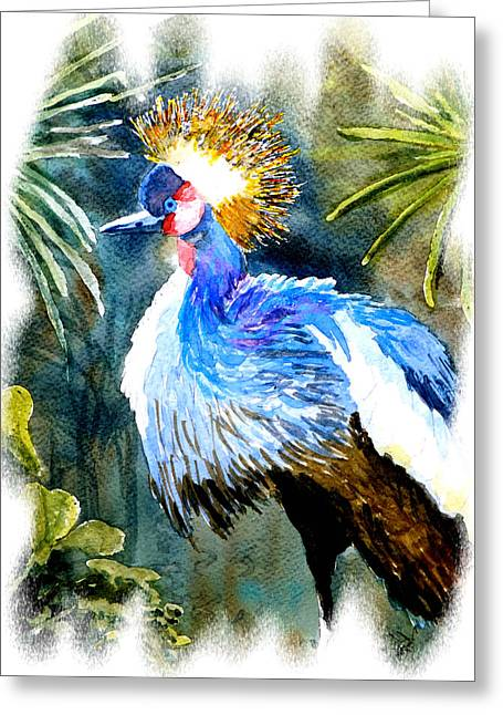 Exotic Bird Greeting Card by Steven Ponsford