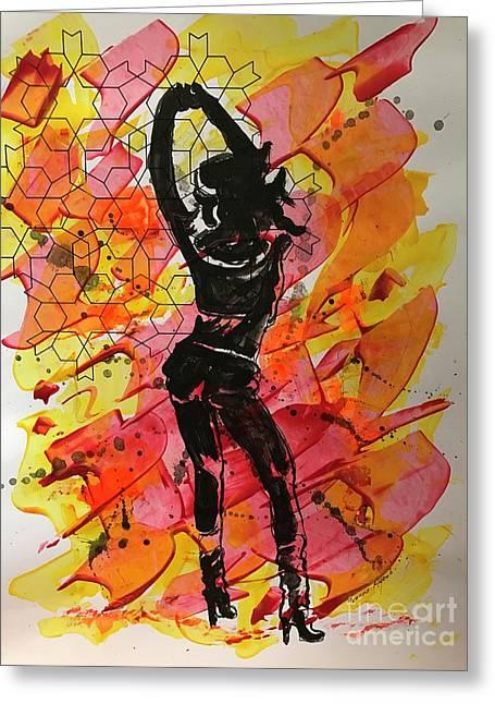 Exotic Dancer 01 Greeting Card