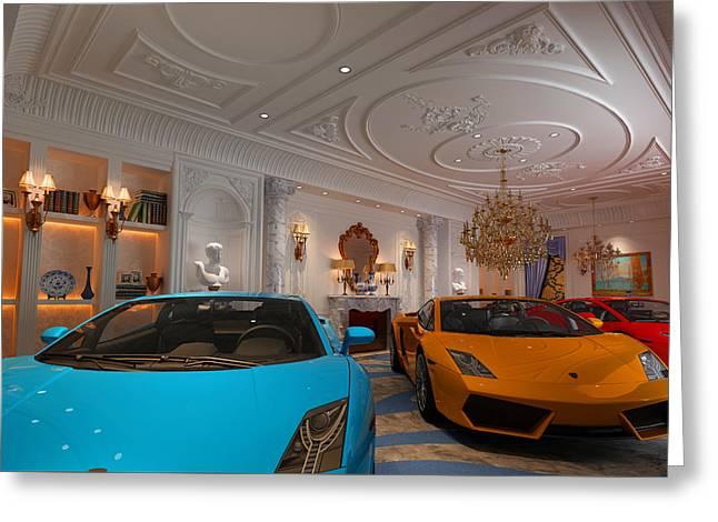 Exotic Italian Lamborghini Car Collection Greeting Card