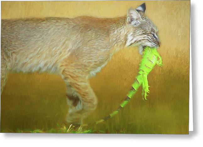 Exotic Lunch. Greeting Card