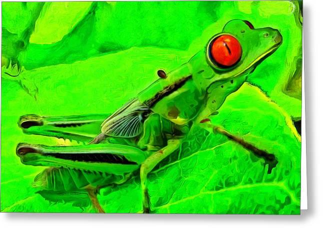 Exotic Nature Greeting Card by Leonardo Digenio