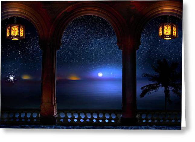 Greeting Card featuring the photograph Exotic Night by Mark Andrew Thomas