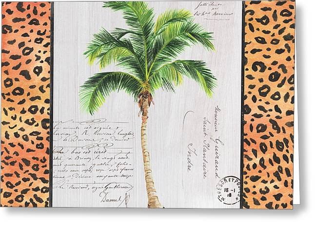 Exotic Palms 1 Greeting Card by Debbie DeWitt