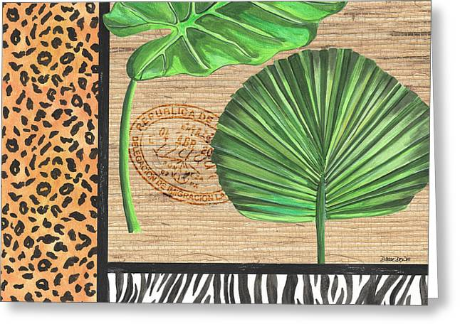 Exotic Palms 2 Greeting Card by Debbie DeWitt