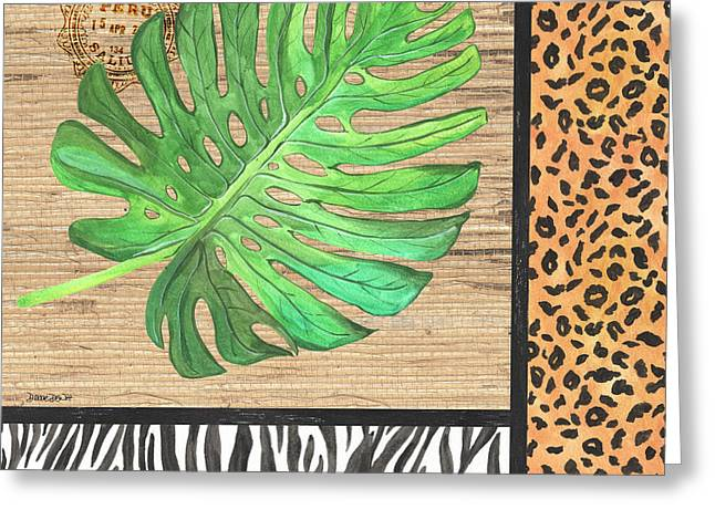 Exotic Palms 3 Greeting Card by Debbie DeWitt