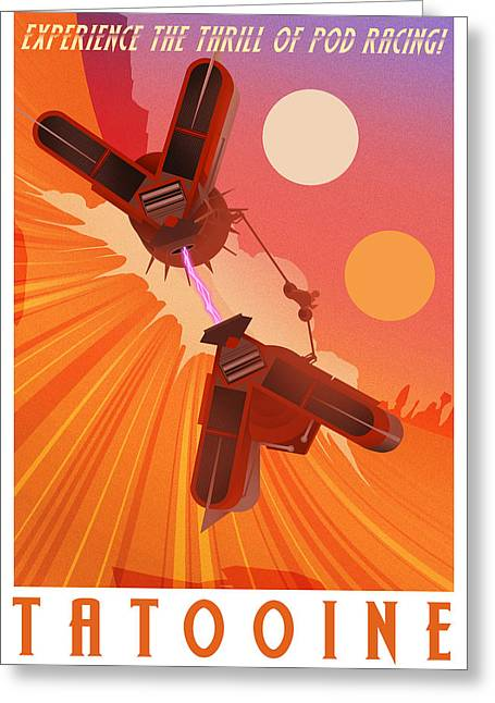 Experience Tatooine Greeting Card by Christopher Ables