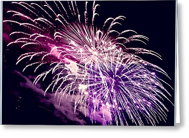 Exploding Stars Greeting Card
