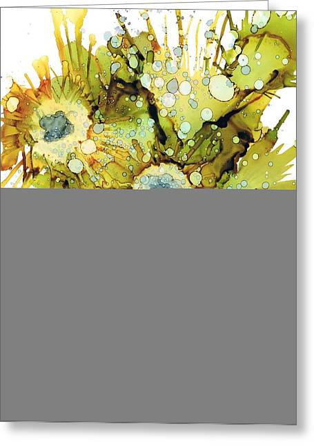 Exploding Sun Flowers Greeting Card by Christine Crawford