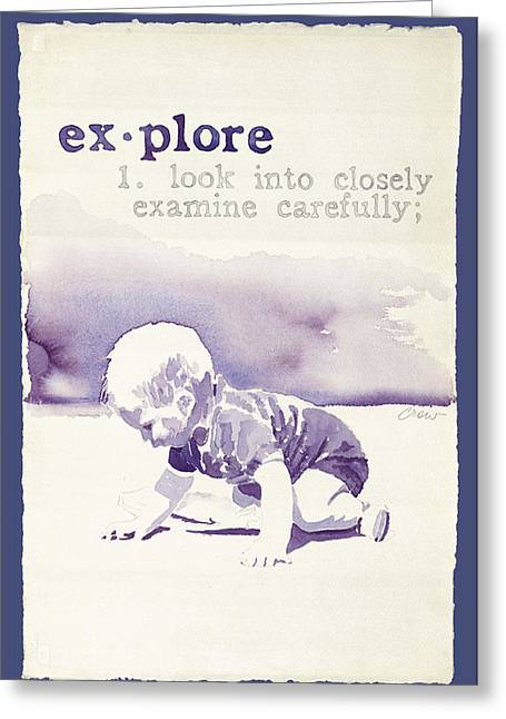 Explore Greeting Card by Janice Crow