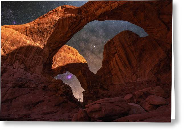 Greeting Card featuring the photograph Explore The Night by Darren White