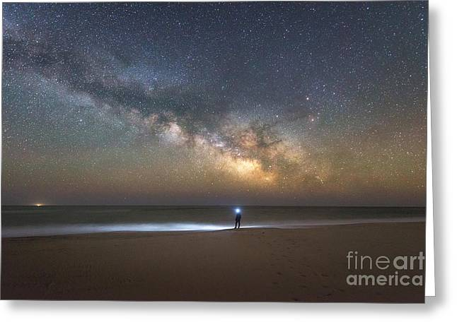 Explore The Shore - Midnight Explorer Series Greeting Card by Michael Ver Sprill