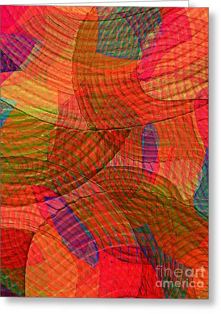 Explore Transdimensions Red 24 Greeting Card by Trent Jackson