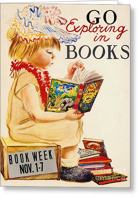 Exploring Books 1961 Greeting Card