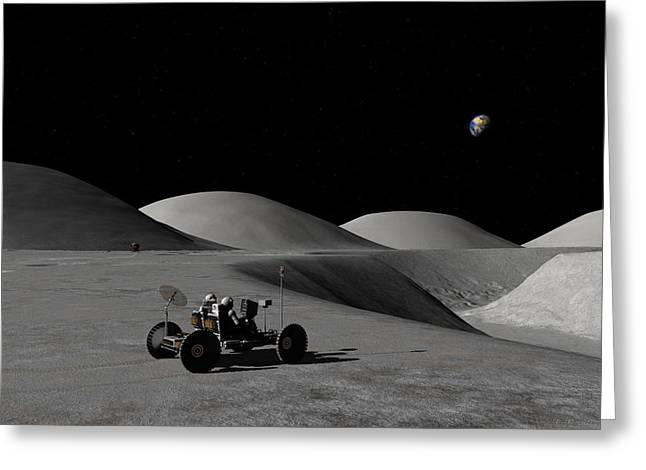 Exploring Hadley Rille Greeting Card