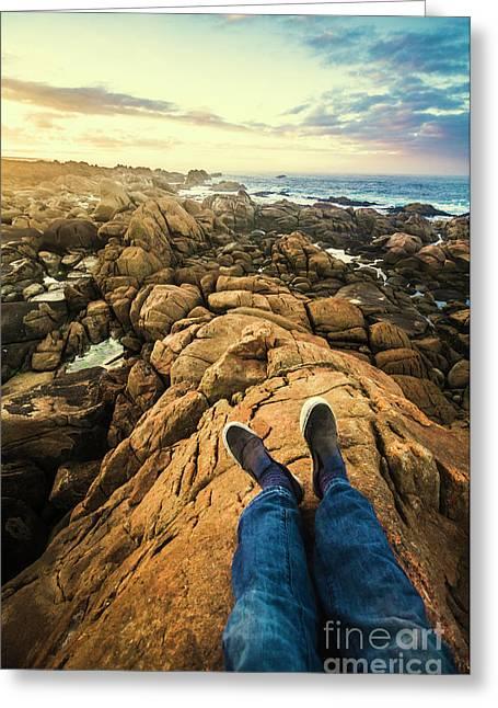 Exploring The Beaches Of Western Tasmania Greeting Card