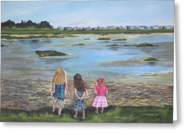 Exploring The Marshes Greeting Card