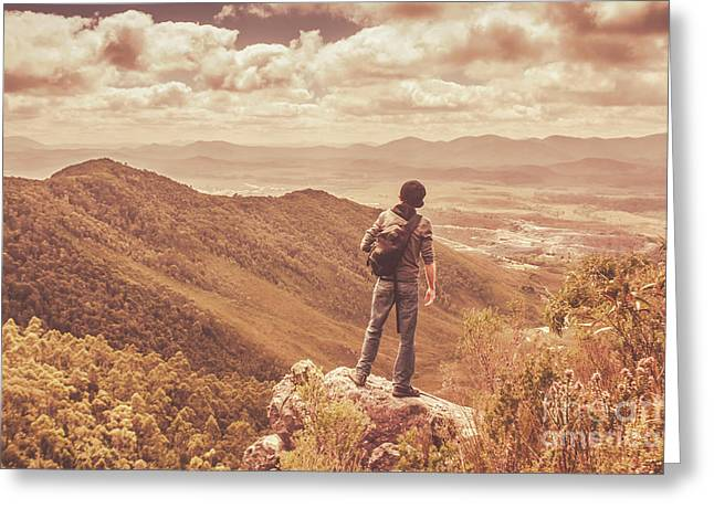Exploring The Rugged West Coast Of Tasmania Greeting Card by Jorgo Photography - Wall Art Gallery