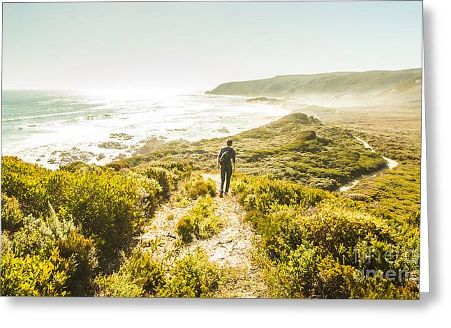Exploring The West Coast Of Tasmania Greeting Card