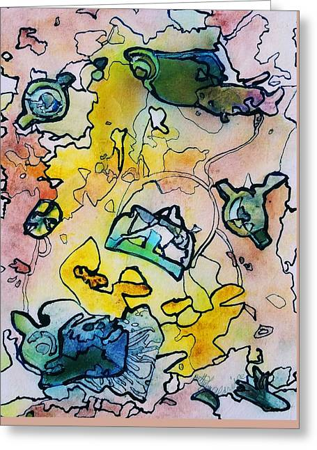 Explosion Greeting Card by Betty Lu Aldridge