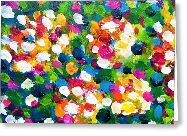 Greeting Card featuring the painting Explosion Of Colors by Cristina Stefan