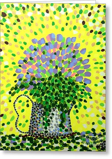 Explosive Flowers Greeting Card by Alan Hogan
