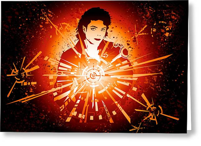Energy Force Of Michael Jackson Greeting Card by Adz Akin