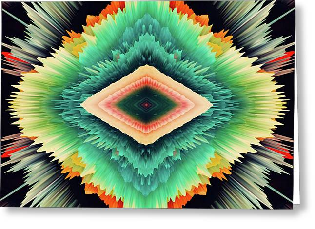 Exponential Flare Greeting Card by Colleen Taylor
