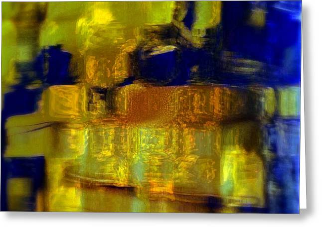 Exposed Brick And Paint Greeting Card by Fania Simon