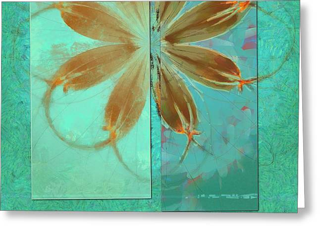 Exposure Reality Flowers  Id 16165-043834-44191 Greeting Card by S Lurk