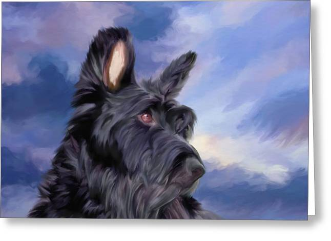 Expression Is Everything Scottish Terrier Dog Greeting Card