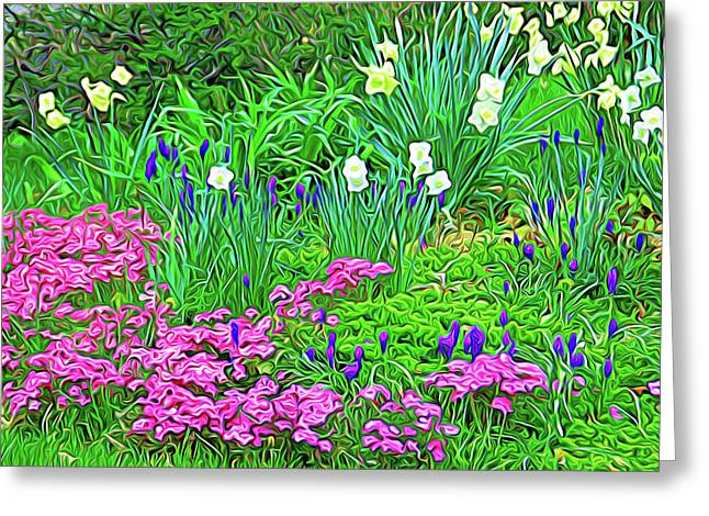 Greeting Card featuring the photograph Expressionalism Garden Escape by Aimee L Maher Photography and Art Visit ALMGallerydotcom