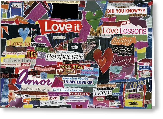 expression'd Love  Greeting Card