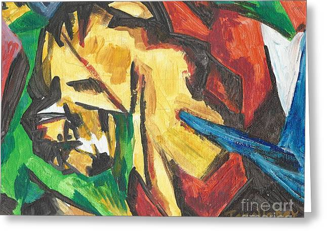 Greeting Card featuring the painting Expressionism by Janelle Dey