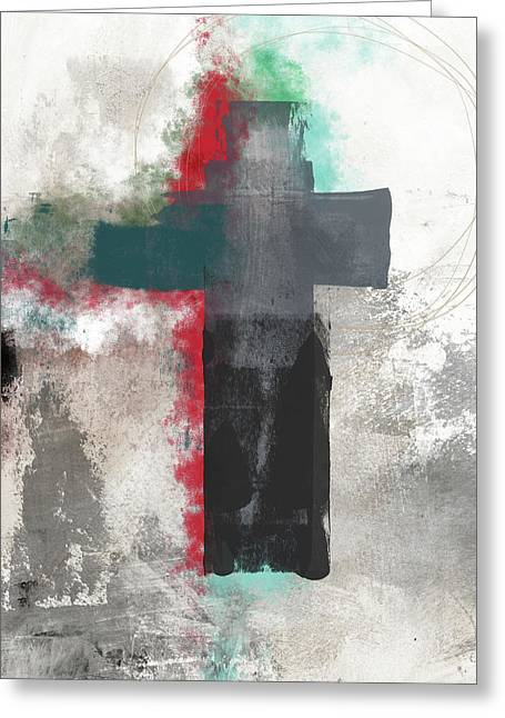 Expressionist Cross 4- Art By Linda Woods Greeting Card