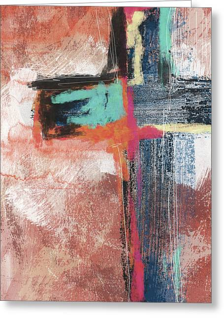 Expressionist Cross 5- Art By Linda Woods Greeting Card