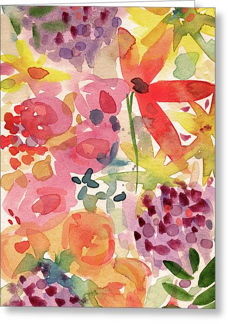 Expressionist Fall Garden- Art By Linda Woods Greeting Card