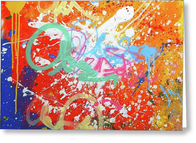 Expressionist Graffiti Painting Greeting Card