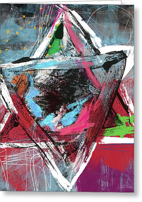 Expressionist Star Of David- Art By Linda Woods Greeting Card