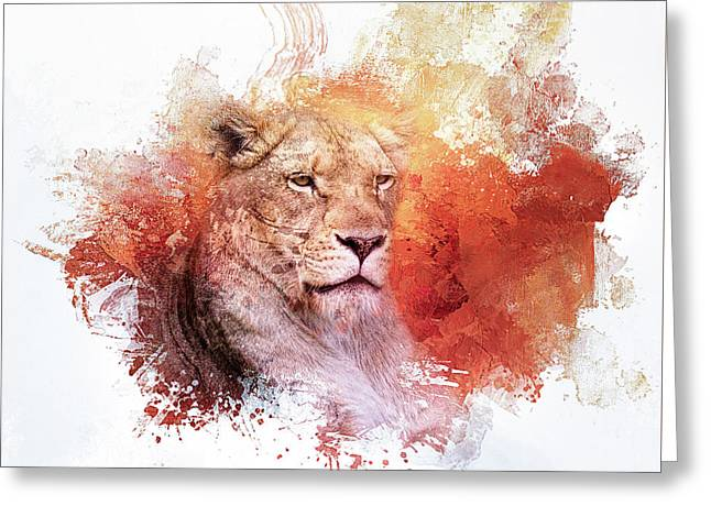 Expressions Lioness Greeting Card