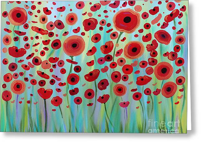 Expressive Poppies Greeting Card
