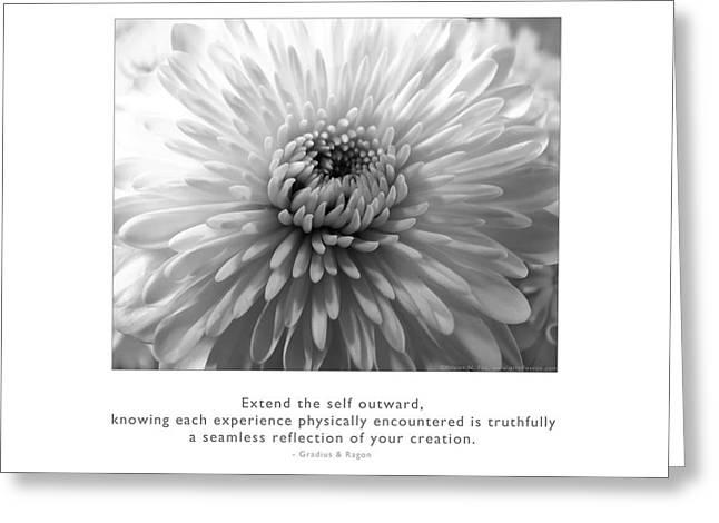 Extend The Self Outward Greeting Card by Kristen Fox