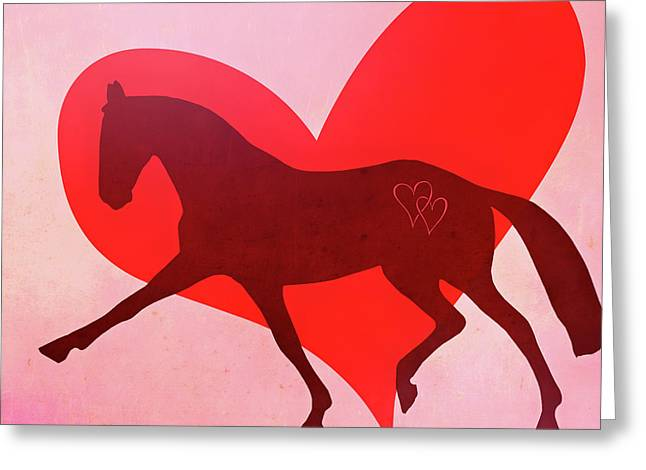 Greeting Card featuring the photograph Valentine Extended  by Dressage Design
