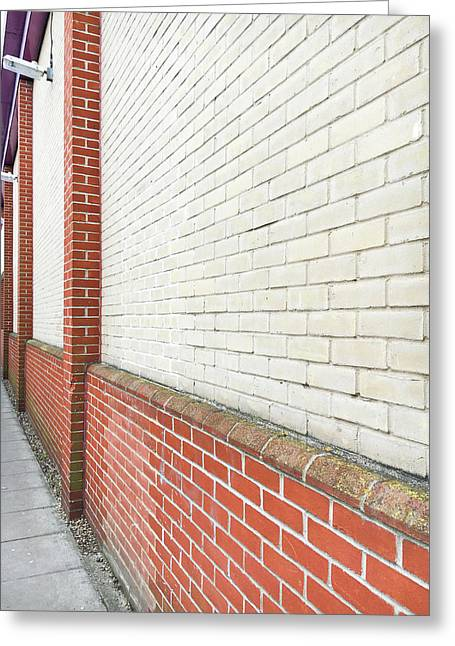 Exterior Wall Greeting Card by Tom Gowanlock
