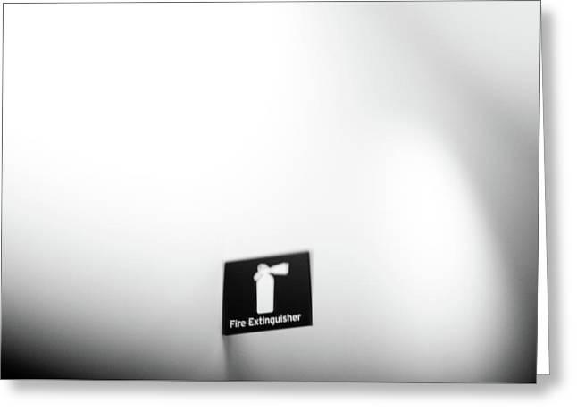 Extinguisher Greeting Card by Daniel Lih