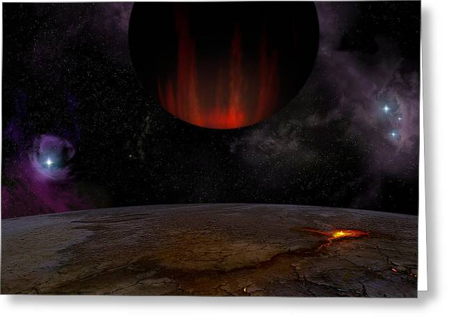 Extrasolar Planet Hd149026b Greeting Card by Julius Csotonyi
