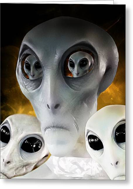 Extraterrestrial Insight Greeting Card