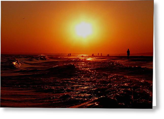 Extreme Blazing Sun Greeting Card by Kendall Eutemey