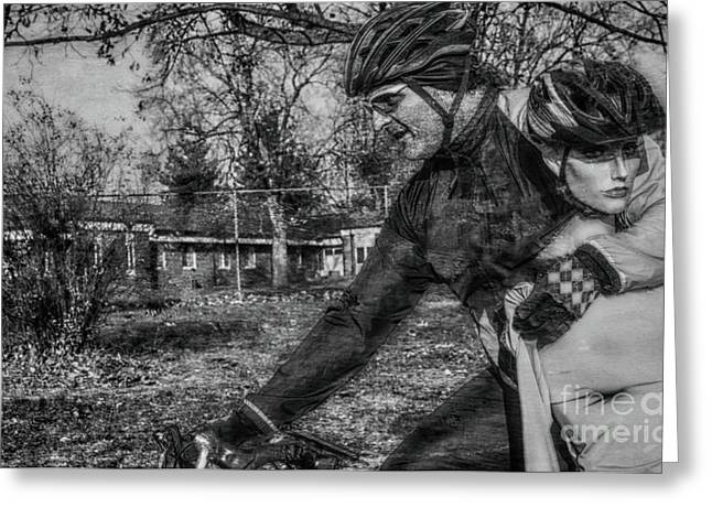 Extreme Cycling  Greeting Card by Steven Digman